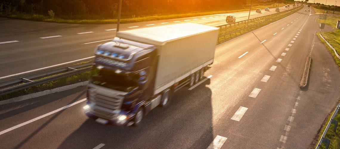 Long distance transport truck
